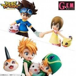 Digimon Adventure G.E.M. Series statuettes Brother Set 15 cm
