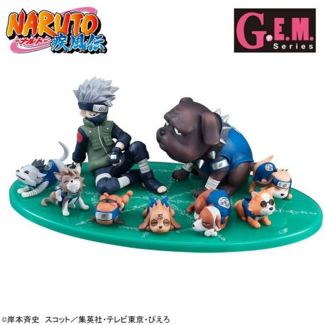Naruto G.E.M. Series statuette PVC Kakashi & Ninken Ninja Dog Set