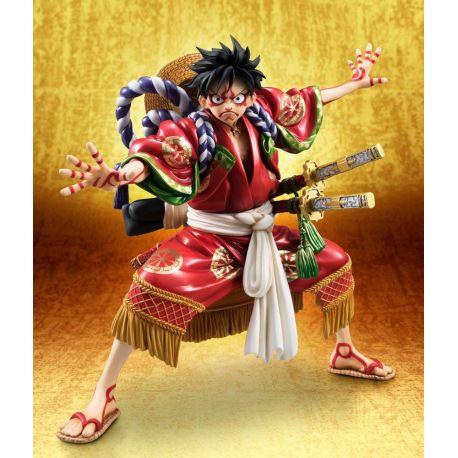 One Piece statuette PVC Excellent Model P.O.P. Monkey D. Luffy Kabuki Edition 21 cm