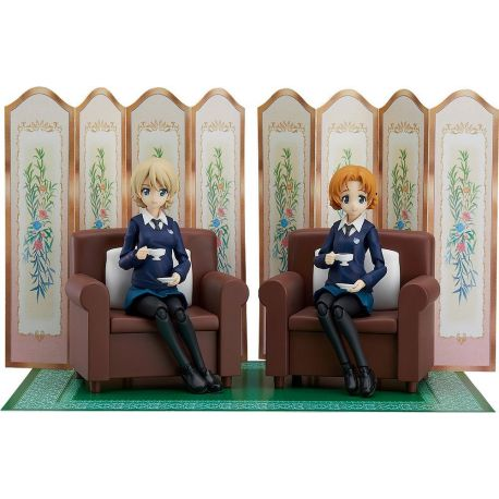 Girls und Panzer das Finale pack 2 figurines Figma Darjeeling & Orange Pekoe 12 - 15 cm