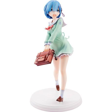 Re:ZERO Starting Life in Another World statuette PVC 1/7 Rem High School Uniform Ver. 23 cm