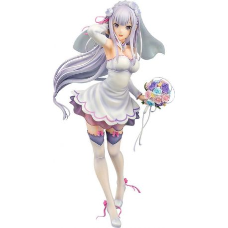 Re:ZERO Starting Life in Another World statuette PVC 1/7 Emilia Wedding Ver. 25 cm